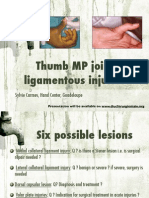 Thumb MP Joint Injuries-Qatar 2015