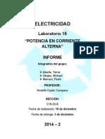 Electricidad - Informe Lab 15