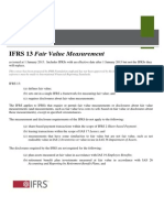 IFRS 13-FV Measurement