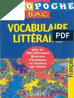 Vocubulaire Litteraire Pour Le Bac