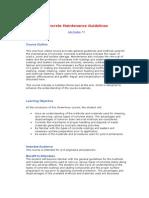 Concrete Maintenance Guidelines