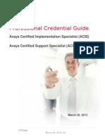 ACIS-ACSS Credential Guide V1