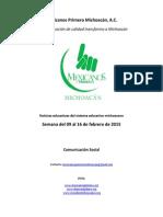 Noticias del sistema educativo michoacano al 23.02.2015