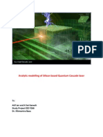 Analytic Modelling of Silicon Based Quantum Cascade Laser