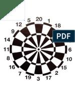 Target 20 - Dart Board (A3)