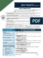 Info-TRACEESS numéro 24, le 23 février 2015