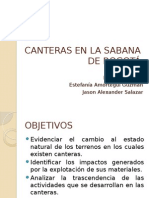 Canteras en La Sabana de Bogotã