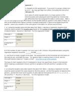 Assignment for Quantitative Analysis