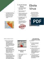 ebola virus brochure