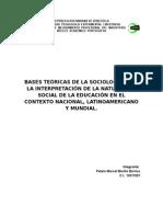 Bases Teóricas de La Sociología Para La Interpretación de La