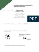 Configuration Et Coordination Des Activités Internationales De