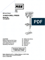 Drill Press Machine User Manual
