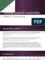 Mgmt and Leadership 704-2