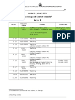 Teaching and Exam Schedule Sem 2 2014-2015