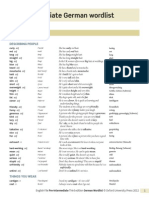 EF Pre English German Wordlist