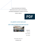 Clasificacion de Los Establecimientos de Salu1