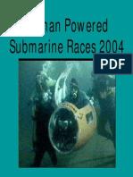 Safety Rules - Human Power Submarine - International Submarine Race