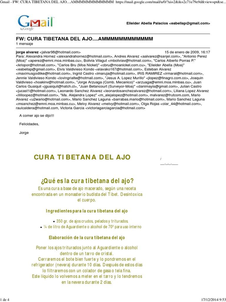 dieta tibetana del ajo contraindicaciones