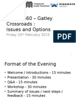 A34 - A560 Crossroads - Joint Presentation