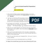 powerpoint evaluation