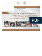 Perfiles Parámetros e Indicadores para Directivos, Supervisores y Asesores Técnico Pedagógicos.