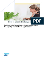 How to Create Exchange Object for Agentry Based Mobile Applications
