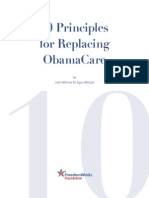 FreedomWorks' 10 Principles for Replacing ObamaCare