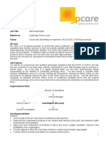 005 JD Only - Band 6 GP Care Bank Audiologist Dec 2014