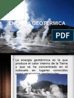 Energía Geotérmica y biocombustible