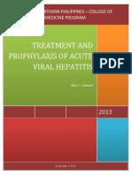 Treatment of Acute Viral Hepatitis