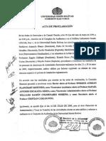 Acta de Proclamacion Autoridades de La USB