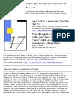 Materialist Analysis οφ European Integration