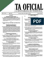 Gaceta Oficial 40512 2014 de Cierre y Liquidación Del Ejercicio 2014