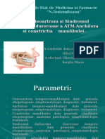 Osteoartroza şi sindromul disfuncţiei dureroase a ATM.ppt