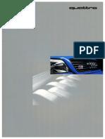 Audi S6 Plus German Market Brochure (1996)