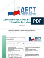 Overview of Customer Protection Rules in the Competitive Electric Market