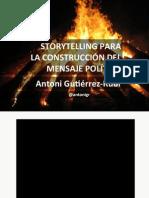 """Conferencia Antoni Gutiérrez-Rubí """"Storytelling para la construcción del mensaje político"""""""