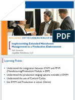 1105 Implementing Extended Warehouse Management in a Production Environment