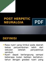 Post Herpetic Neuralgia