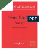 Piano Etudes 1-3