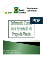 Estimando Custos Para Formacao Do Preco de Venda 2013.1