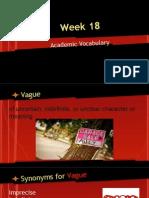 week 18 academic vocabulary