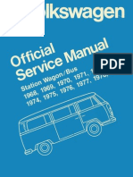 VW T2 Official Service Manual 1979