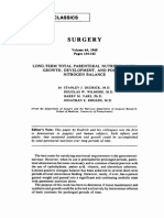 1968 Long-term Total Parenteral Nutrition With Growth, Development, And Positive Nitrogen Balance. SURGERY