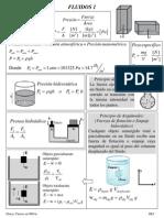 Formulario Física Fluidos. Curso