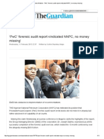 Guardian News Website - 'PwC' Forensic Audit Report Vindicated NNPC, No Money Missing'