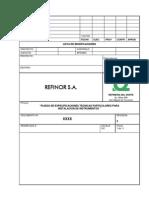 Especificación Técnica de Instalaciones de Instrumentacion