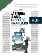 La Tierra Llama Al Sector Financiero