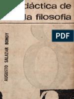 Didáctica de La Filosofía - Augusto Salazar Bondy