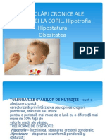 Dereglari Cronice Nutritie